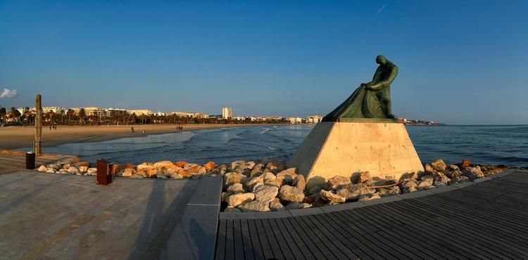 El Moll i el monument al pescador