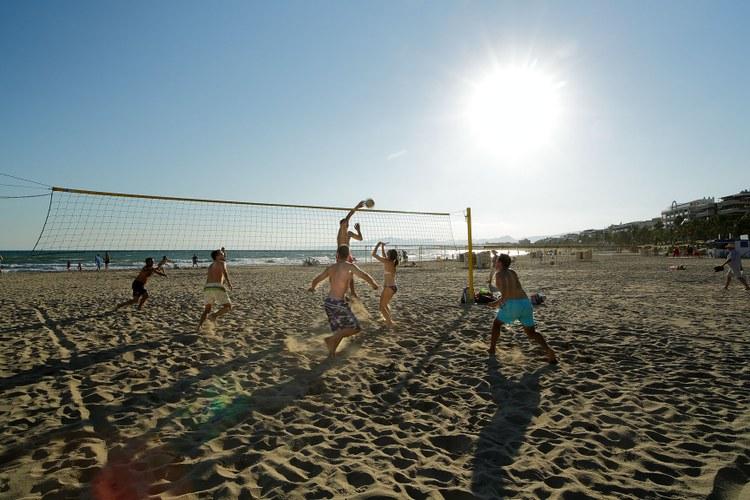 Пляжная спортивная зона