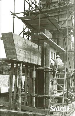 Construcció del monument de Jaume I. Any 1965 II