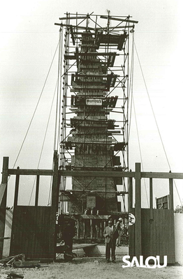 Construcció del monument de Jaume I. Any 1965