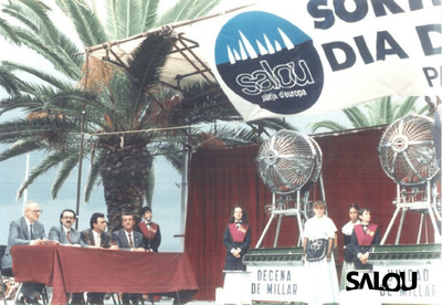 Sorteig de loteria. Dia del mar 1988