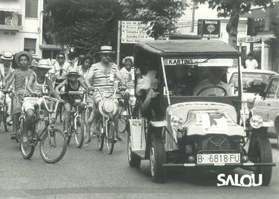 Turistes a Salou. Any 1989