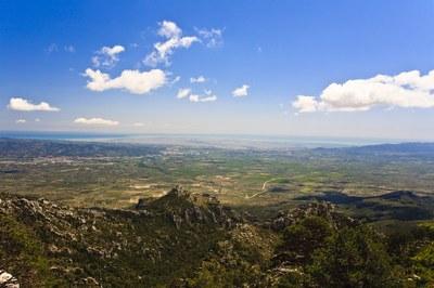 Panoramablick auf das Gebiet Ebro