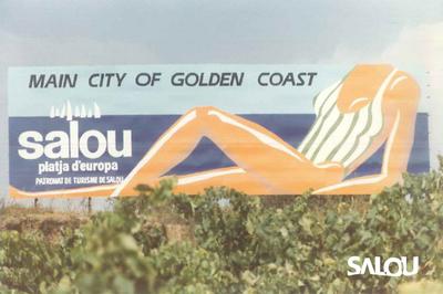 Billboard near the motorway. 1986