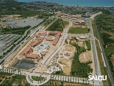 Construction of PortAventura World. 1995