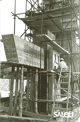 Construction of the Jaume I monument. 1965 II