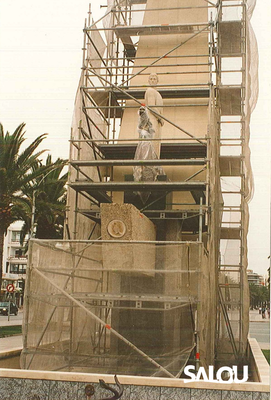 Construction of the Jaume I monument. 1965 III