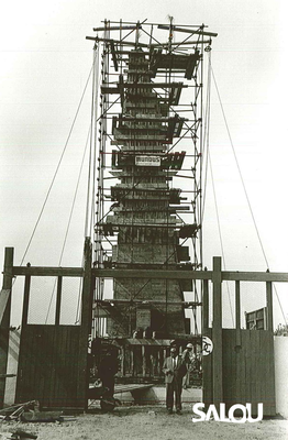 Construction of the Jaume I monument. 1965