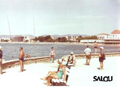 Salou harbour. 1975