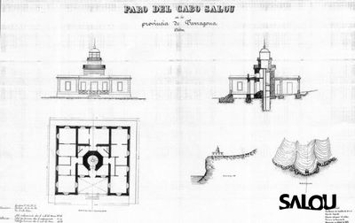 Salou Lighthouse's maps. 1878