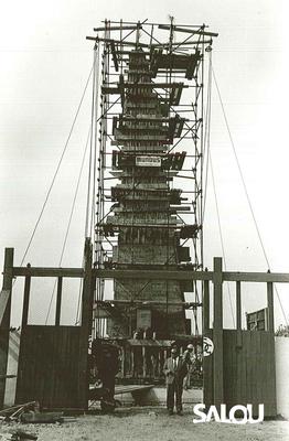 Construcción del monumento Jaime I. Año 1965