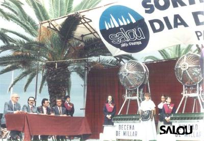Sorteo de lotería. Día del mar 1988