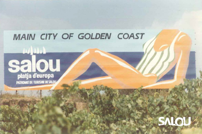 Valla publicitaria autopista 1986