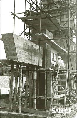 Construction du monument de Jaime I. Année 1965 II