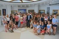 El alcalde de Salou, Pere Granados, asiste a una reunión de trabajo con el touroperador Itaka para que Salou se convierta en destino principal para los turistas polacos