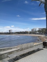 Salou abre sus playas y calas a partir de hoy lunes, con la entrada en la fase 2 de desescalada