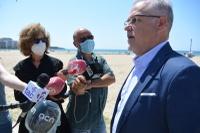 Salou presenta un sistema que permitirá controlar la ocupación de las playas