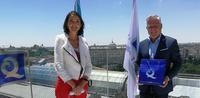 Pere Granados recull la bandera 'Q de Qualitat Turística', que reconeix la bona gestió de les platges de Llevant i Ponent i els serveis que ofereixen