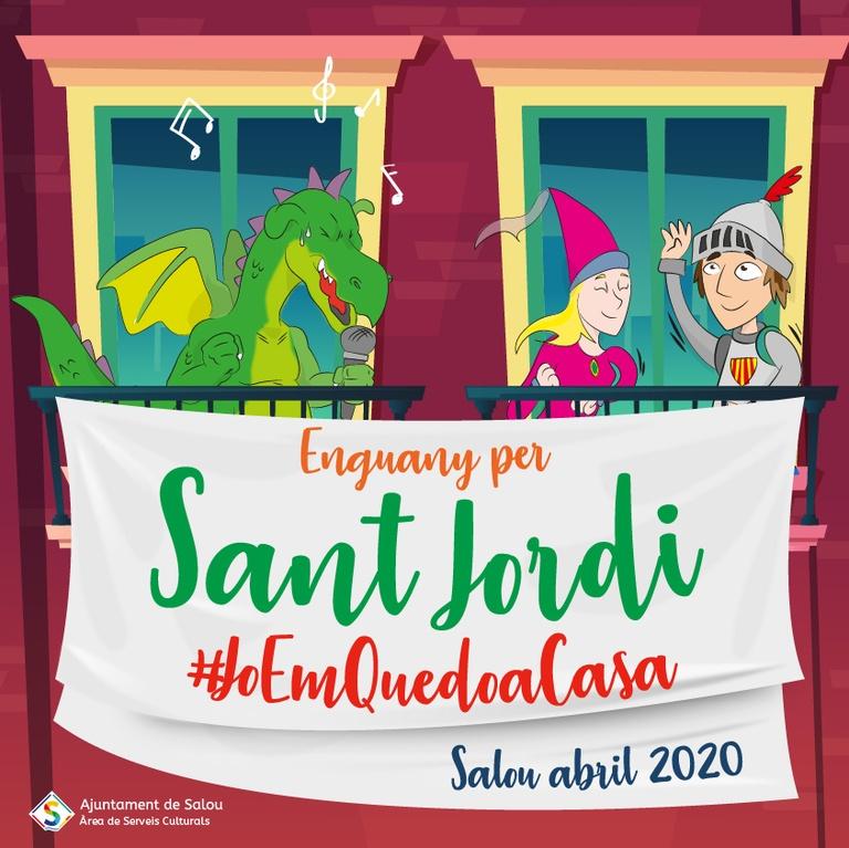 Salou convida a engalanar els balcons de les cases amb roses i dracs, per celebrar la Diada de Sant Jordi