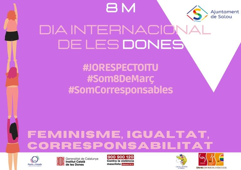 Salou es bolca amb la celebració del 8M, Dia internacional de les Dones