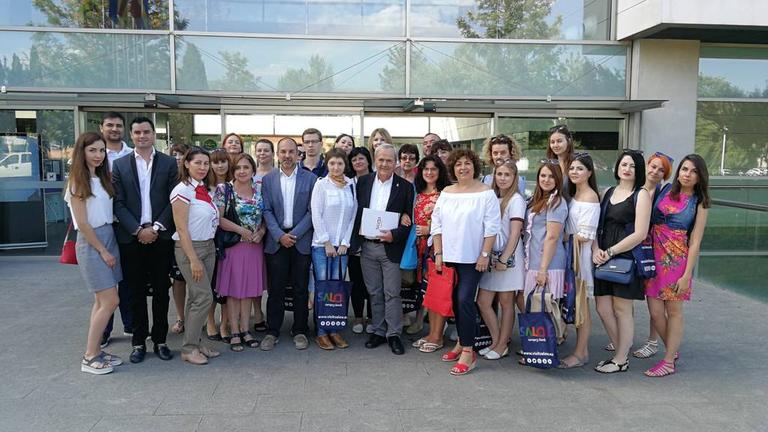 SALOU REP UNA DELEGACIÓ DEL TOUROPERADOR ANEX TOUR I AGENTS DE VIATGES RUSSOS