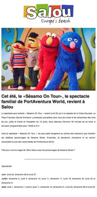 """Cet été, le """"Sésamo On Tour"""", le spectacle familial de PortAventura World, revient à Salou"""