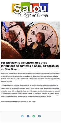 Les prévisions annoncent una pluie torrentielle de confettis à Salou, à l'occasion du Cós Blanc