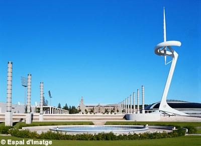Олимпийский стадион и башня Калатравы
