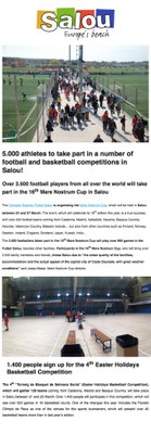 5.000 athletes to take part in a number of football and basketball competitions in Salou