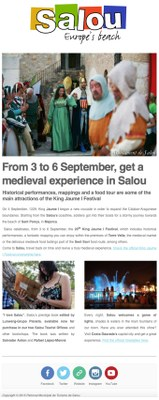 From 3 to 6 September, get a medieval experience in Salou