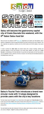Salou will become the gastronomy capital city of Costa Daurada this weekend, with the 6th Sabor Salou food fair
