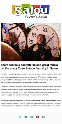 There will be a confetti fall and great music on the crazy Coso Blanco festivity in Salou